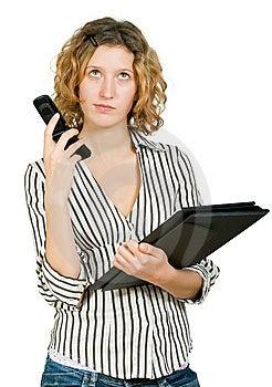Bizneswomanu Falcówki Telefonu Potomstwa Obrazy Royalty Free - Obraz: 7979869