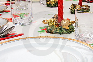 Prepared Table Stock Image - Image: 7981421