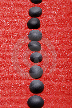 Line From Black Stones Stock Photography - Image: 7981822