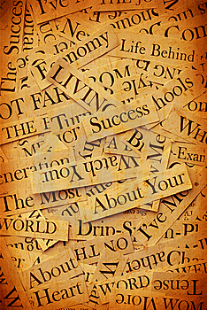 News Paper Text Royalty Free Stock Photos - Image: 7982458