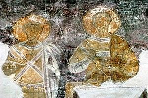 Restoration Of Fresco In Novgorod Stock Photo - Image: 7983370