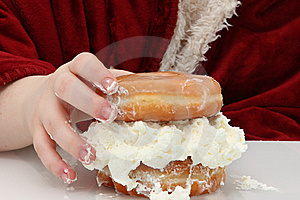 Doughnut Sandwhich Stock Photography - Image: 7985082