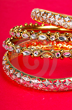 Golden Bracelets Royalty Free Stock Photo - Image: 7985695