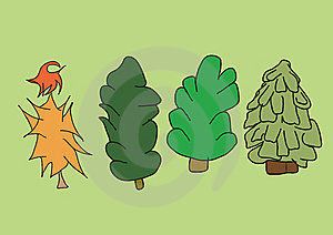 Creative Fur-trees Royalty Free Stock Photos - Image: 7987178