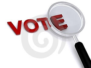 Vote Photographie stock