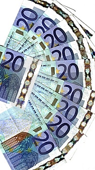 Range  Of Twenty Euro Stock Images - Image: 7987884