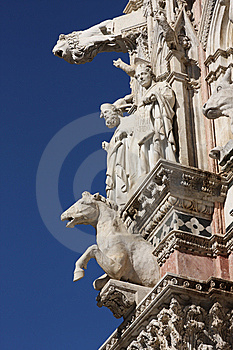 Architectural Details Of Medieval Cathedral In Sie Royalty Free Stock Photo - Image: 7988085