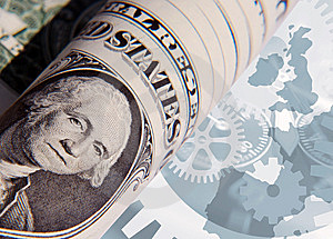 Dollar Influences Europe Stock Photo - Image: 7988230