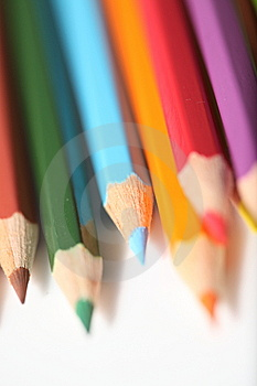 Macro Pencil Cluster Points Bottom Right Portrait Stock Image - Image: 7988521