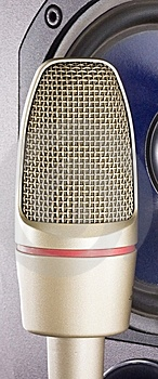 Microphone With Loudspeaker Stock Image - Image: 7988531