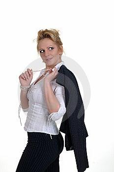 Henne Trevlig Rekreationtidkvinna Arkivfoto - Bild: 7988760