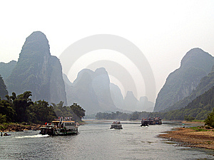 Yangshuo Cruise 1 Stock Photos - Image: 7989013