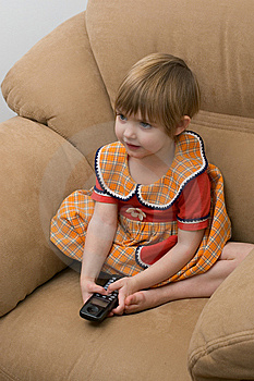 The Little Child With Phone Stock Images - Image: 7992754