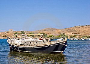 Traditional Greek Fishing Boat Stock Photos - Image: 7992963