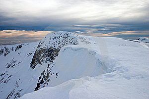 Snowy Mountain Cornice Royalty Free Stock Photography - Image: 7993327