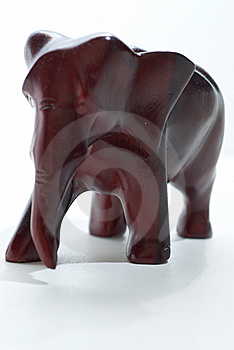 Elephant Out Of Mahogany. Stock Photo - Image: 7993370