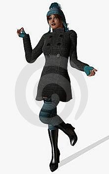 Elegant Fashionable Girl Royalty Free Stock Photography - Image: 7994537