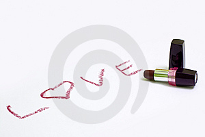 Love Lipstick Royalty Free Stock Photography - Image: 7994927
