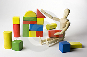 Wooden toys play Royalty Free Stock Photo