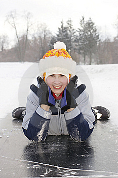 Girl On Ice Stock Photography - Image: 7995792