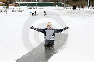 Girl On Ice Stock Photography - Image: 7995882