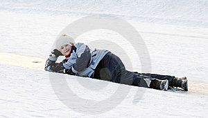 Girl On Ice Royalty Free Stock Photos - Image: 7996068