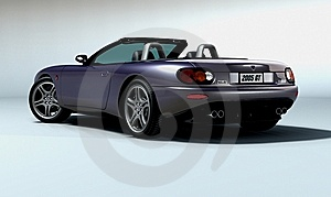 Mx10 Sports Convertible 2 Royalty Free Stock Images - Image: 7996669