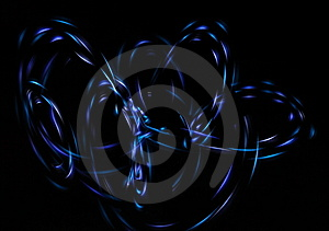 Neon Lights In The Dark Stock Photos - Image: 7996983