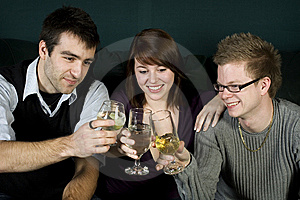 Three Friends Toasting Royalty Free Stock Images - Image: 7997809