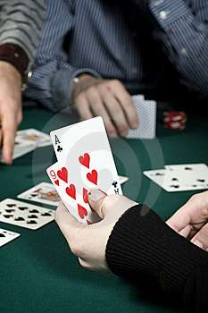 Poker Hand Stock Photos - Image: 7997823