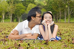 Loving Couple In The Outdoor Stock Image - Image: 7997941