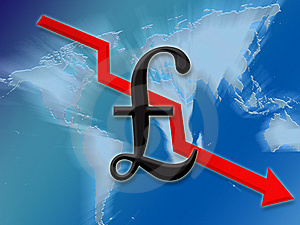 Pound Going Down Royalty Free Stock Photos - Image: 7999058