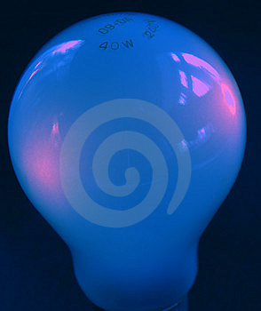 Blue Light Bulb Free Stock Images