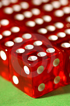 Close-up Of Red Dices Free Stock Photos