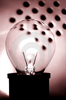 Sepia Bulb Free Stock Photography