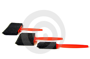 Sponge Applicators Stock Photo