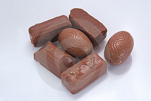 Milk Chocolates Stock Images