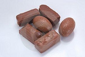 Milk Chocolates Stock Images