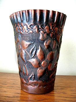Kupferner Vase Stockfotos