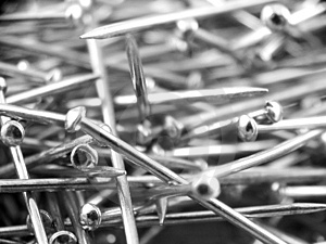 Pins Stock Image