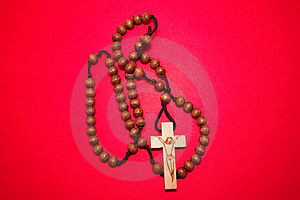 Wooden Rosary Free Stock Image