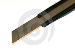 Cardboard Knife Free Stock Photography
