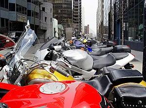 Bikes In A Row Free Stock Photos
