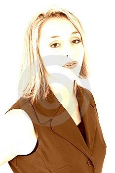 Beautiful Woman In Highkey Sepia Free Stock Photo