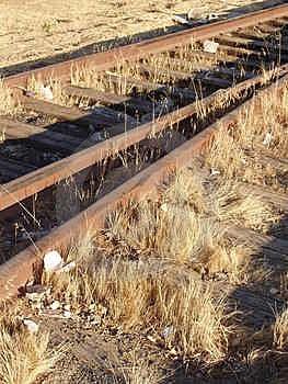 Старые следы железной дороги Стоковое Фото