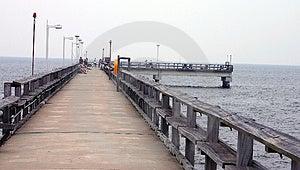 El embarcadero de la pesca Imagen de archivo