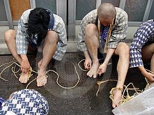 Before Sumo Tournament Free Stock Image