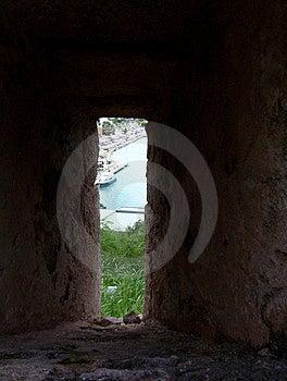 从堡垒的视图 免版税库存照片