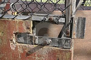 Rustic Gate Bolt Free Stock Photo
