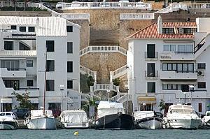 Κτήρια και βάρκες Στοκ Εικόνα